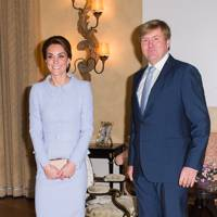 The Duchess of Cambridge and King Willem Alexander