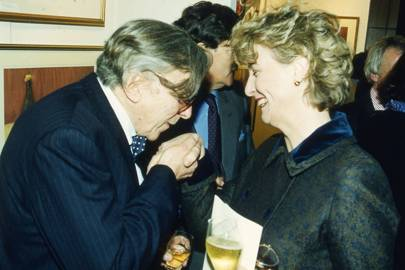 Sir Robin Day and Mrs Norman Lamont