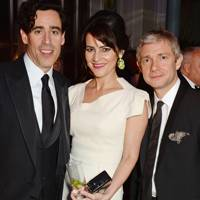Martin Freeman, Louise Delamere and Stephen Mangan