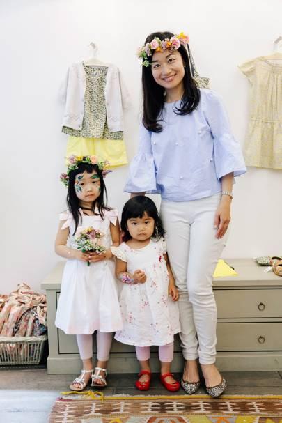 Sara Yamauchi, Ena Yamauchi and Saeko Yamauchi