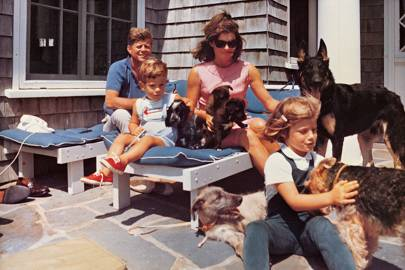 JFK and family by Cecil Stoughton, 1963