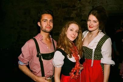 Peter Taylor, Emilie Blich and Elizabeth Roper-Curzon
