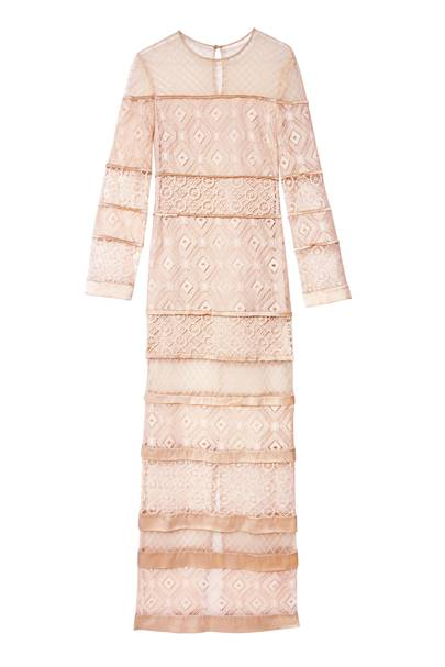 Cotton & French-lace dress, £1,895, By Temperley