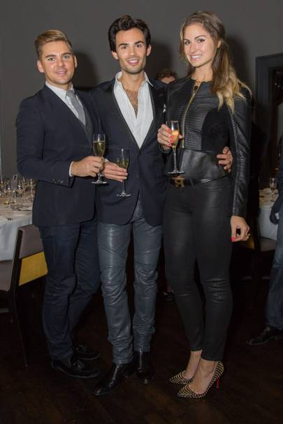 Alex Bajcar, Mark-Francis Vandelli and Gabriella Tristao