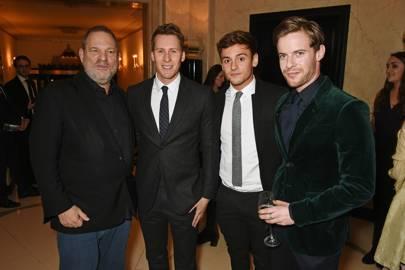 Harvey Weinstein, Dustin Lance Black, Tom Daley and Luke Treadaway
