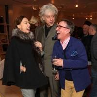 Jeanne Marine, Bob Geldof and Jasper Conran