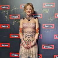 Wearing Valentino at the Swisse promotional event, 2016