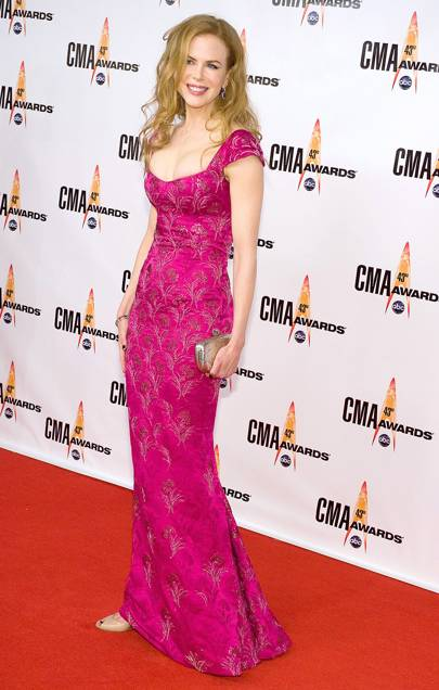 Wearing L'Wrenn Scott at the CMA awards, 2009