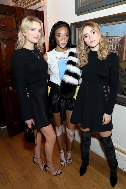 Lily Donaldson, Winnie Harlow and Suki Waterhouse