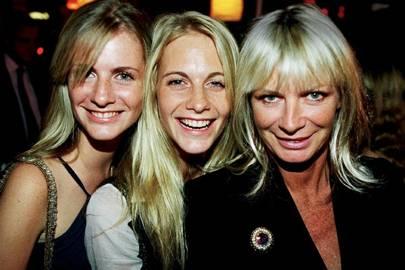 Chloe Delevingne, Poppy Delevingne and Mrs Charles Delevingne