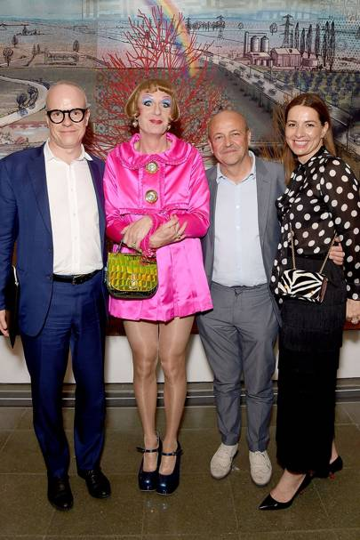 Hans-Ulrich Obrist, Grayson Perry, Thierry Andretta and Yana Peel