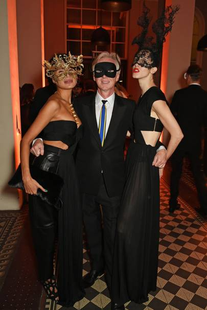 Goga Ashkenazi, Philip Treacy and Anna Cleveland