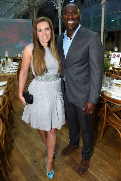 Fiona Barratt-Campbell and Sol Campbell