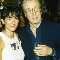 Ghislaine Maxwell and Michael Caine