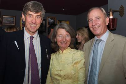 Major Peter Hunter, Lady Moy Scott and Sir David Scott