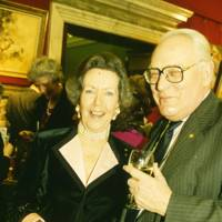Mrs Peter Johnsen and Sir Peter Cazalet