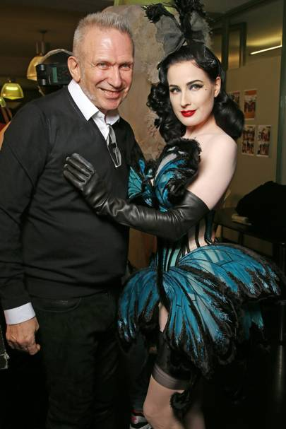 Jean-Paul Gaultier and Dita Von Teese