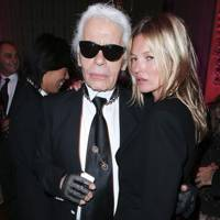 Karl Lagerfeld and Kate Moss