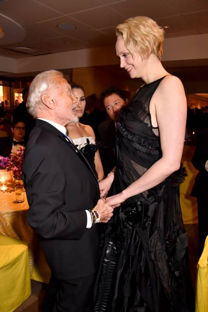 Buzz Aldrin and Gwendoline Christie