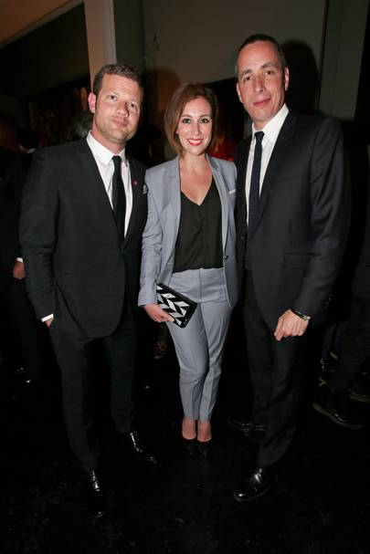 Dermot O'Leary, Dee Koppang and Dan Peres