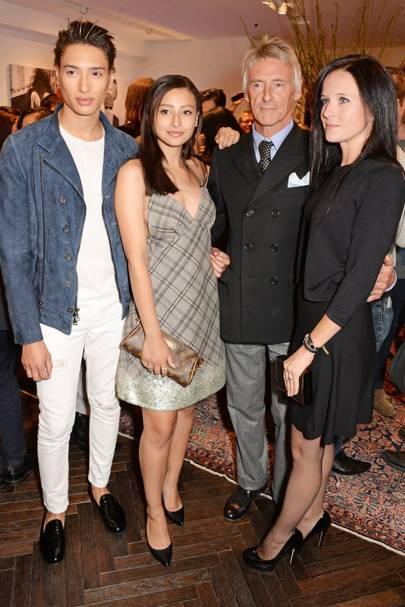 Natt Weller, Leah Weller, Paul Weller and Hannah Andrews