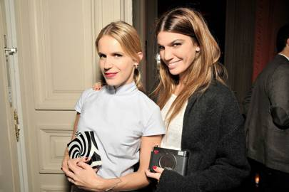 Bianca Brandolini and Eugenie Niarchos