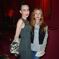 With Josephine de La Baume at Paris Fashion Week, February 2013