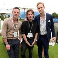 Luke Evans, Christopher Kane and Jack Fox