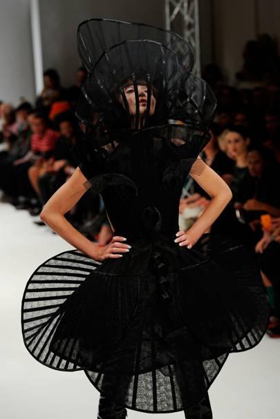 Annabelle Neilson modelling for Pam Hogg, 2012