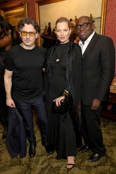 Giovanni Morelli, Kate Moss and Edward Enninful
