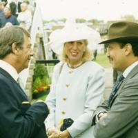 Henry Cecil, Mrs Paul Cole and Prince Fahad Salman
