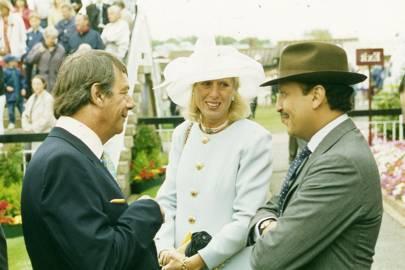 Henry Cecil, Mrs Paul Cole and Prince Fahad Salman