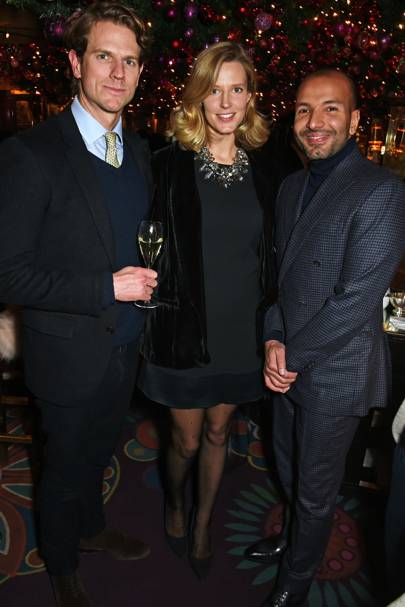 Nick Wilkinson, Olivia Hunt and Abdullah Al-Turki