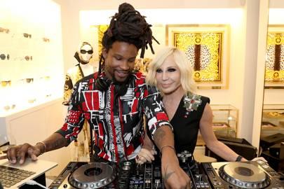 Crackstevens and Donatella Versace
