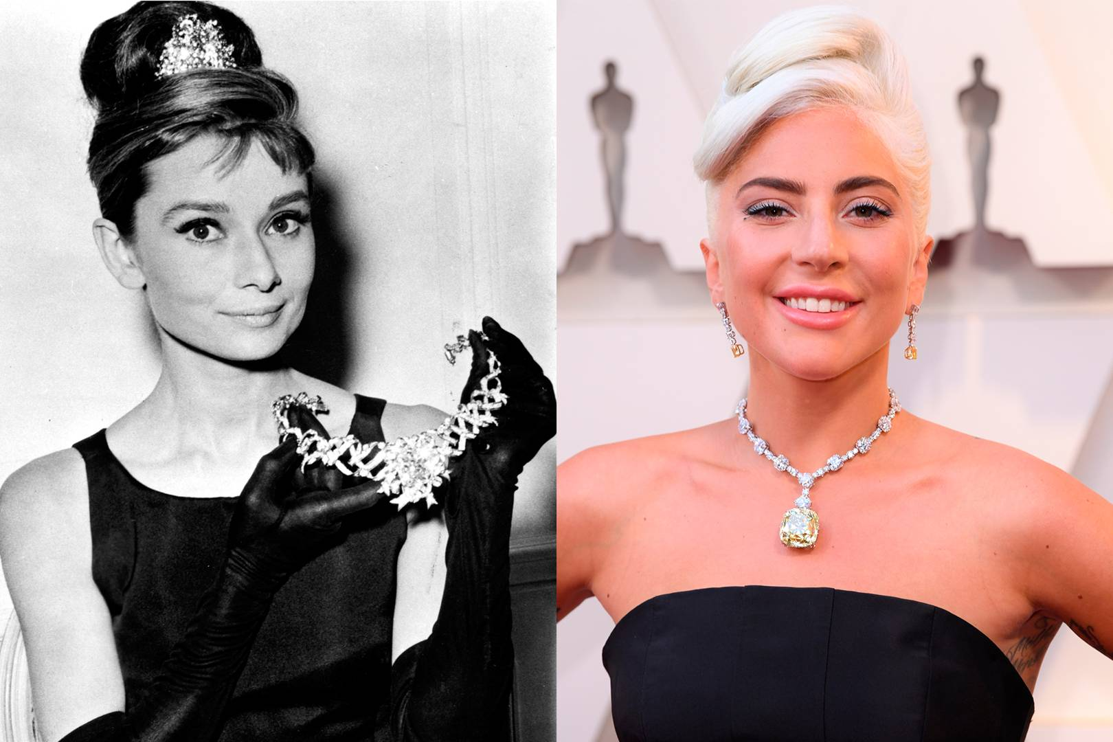 Lady Gaga S Tiffany Co Diamond Necklace At Oscars Tatler