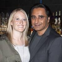 Lia Divirgilio and Sanjeev Bhaskar