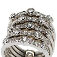 White-gold & diamond ring, £3,995, by Catherine Prevost