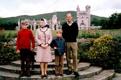Prince Andrew, the Queen, Prince Edward and Prince Philip, 1972