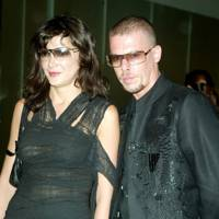 2002: With Alexander McQueen at the opening of his New York boutique