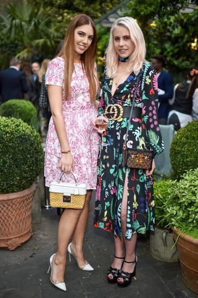 Amber Le Bon and India Rose James