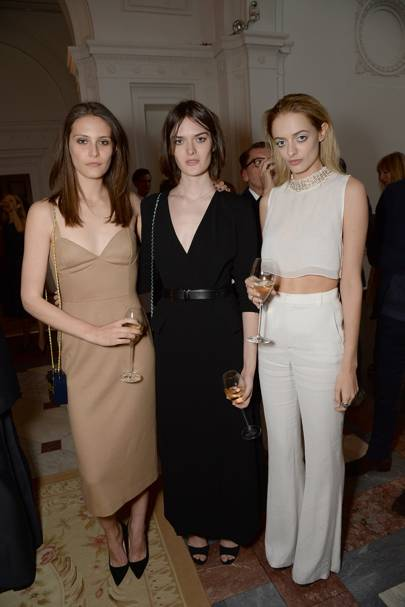 Charlotte Wiggins, Sam Rollinson and Idina Moncreiffe