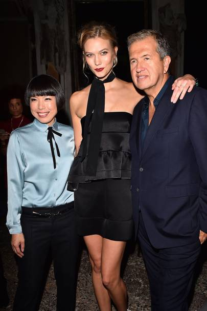 Angelica Cheung, Karlie Kloss and Mario Testino