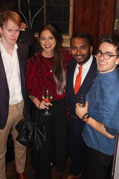 Hoagy Davis-Digges, Rebecca Choong Wilkins, Amol Rajan and Max Benwell