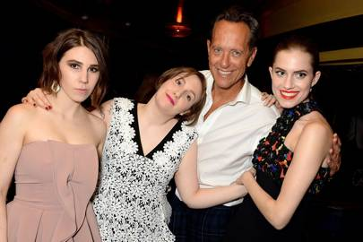 Zosia Mamet, Lena Dunham, Allison Williams and Richard E Grant