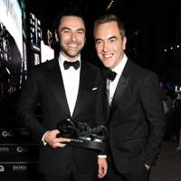 Aidan Turner and James Nesbitt