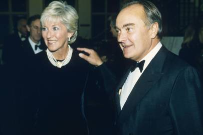 Mrs Terence Donovan and Lord Palumbo