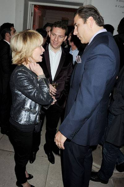 Lulu, Nick Candy and David Walliams