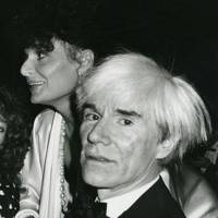Diane von Fürstenberg and Andy Warhol