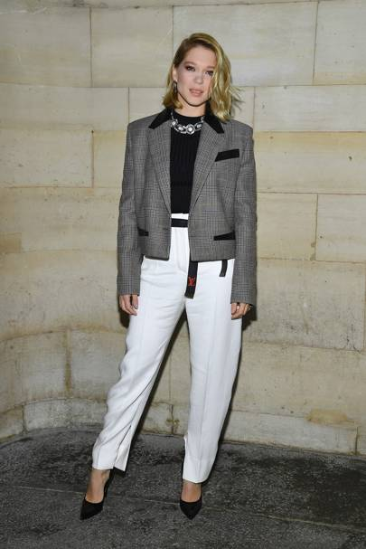Lea Seydoux at the Louis Vuitton show.