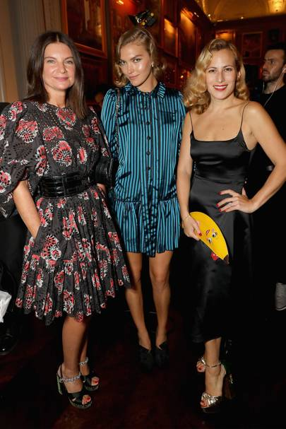 Dame Natalie Massenet, Arizona Muse and Charlotte Dellal